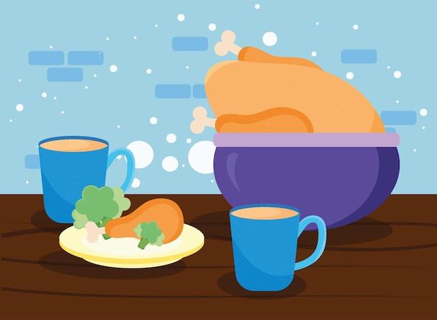 Pollo e caffè