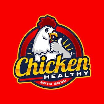 Modello di logo fast food di pollo