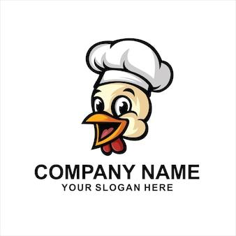 Vettore di logo testa di pollo