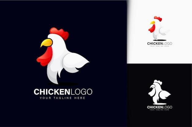 Design del logo del pollo con gradiente