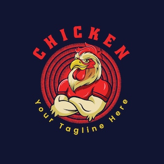 Modello di logo di pollo