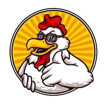 Disegno della mascotte di pollo