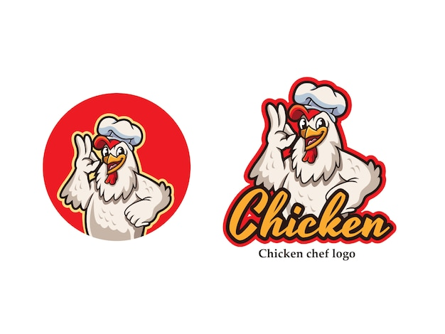 Logo mascotte di pollo