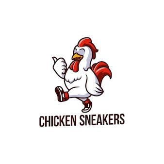 Pollo usa scarpe da ginnastica gallina palestra vita arte
