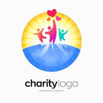Design del logo della fondazione di beneficenza per bambini
