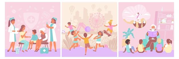 Set di carte per la protezione dei bambini