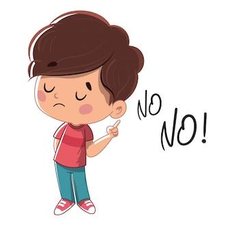 Bambino che dice di no