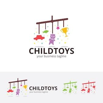 Modello di logo vettoriale giocattoli per bambini