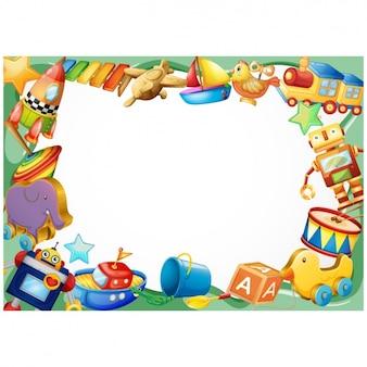 Design del telaio childish Vettore Premium