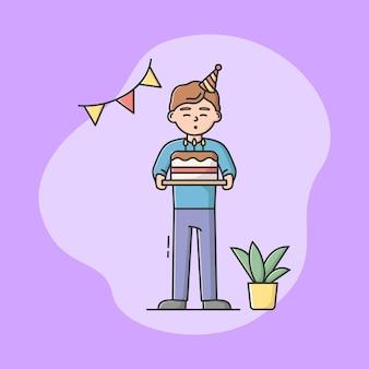 Concetto di celebrazione della festa di compleanno dei bambini.