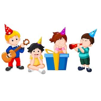 Festa di compleanno per bambini Vettore Premium