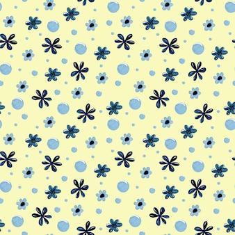 Carta da parati senza cuciture del modello dell'acquerello del fiore dei bambini