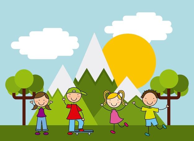 Disegno dell'icona di bambini