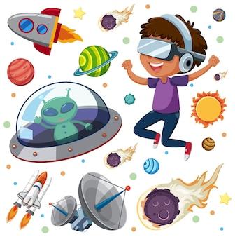 Bambini che imparano il sistema solare