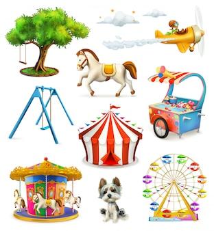 Parco giochi per bambini, set di s
