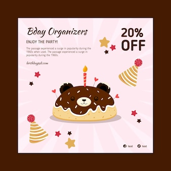 Piazza volantino compleanno per bambini