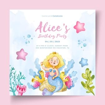 Modello di volantino di compleanno per bambini