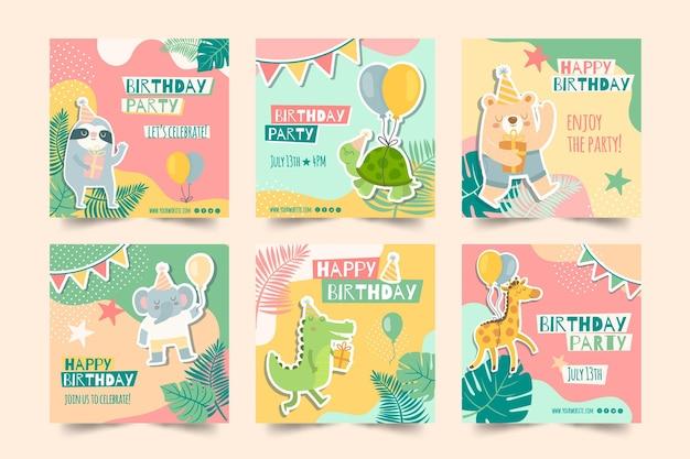 Post di instagram di compleanno per bambini