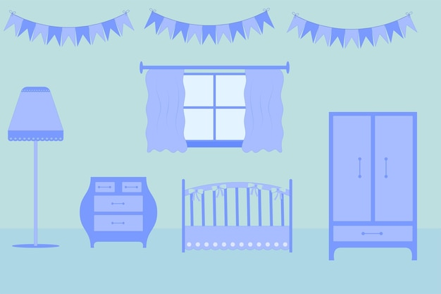 Mobili per la cameretta dei bambini. collocazione nella stanza per il bambino.