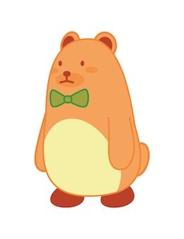 Giocattolo per bambini simpatico orso. sviluppo e intrattenimento del bambino isolati su priorità bassa bianca. strumenti per l'asilo per il divertimento e il gioco dei bambini. icona di vettore colorato luminoso.