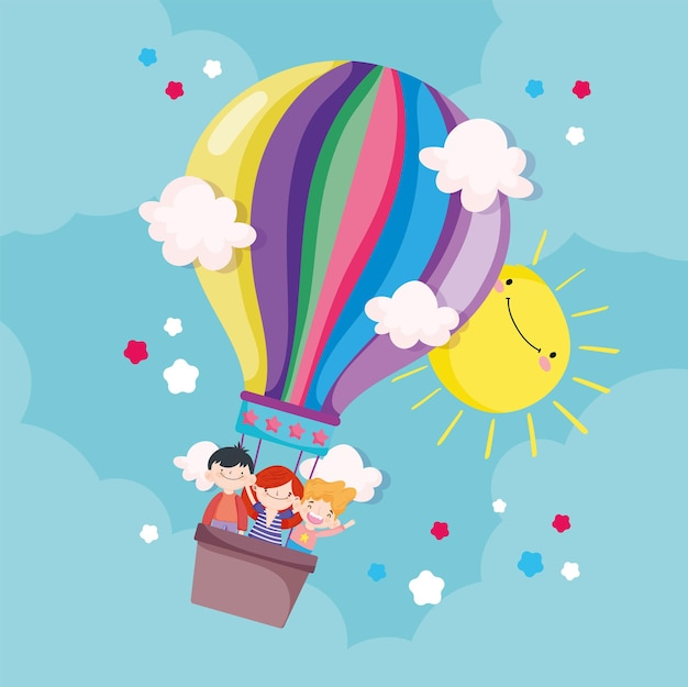Bambini in mongolfiera
