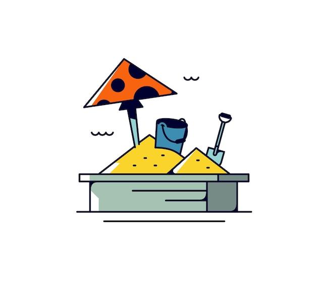 Icona sandbox per bambini