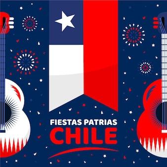 Concetto di festa nazionale del cile