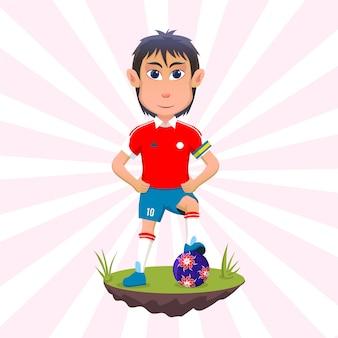 Calciatore della nazionale cilena