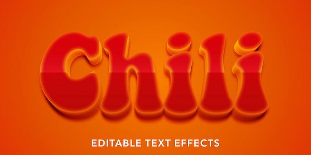 Effetti di testo modificabili chili