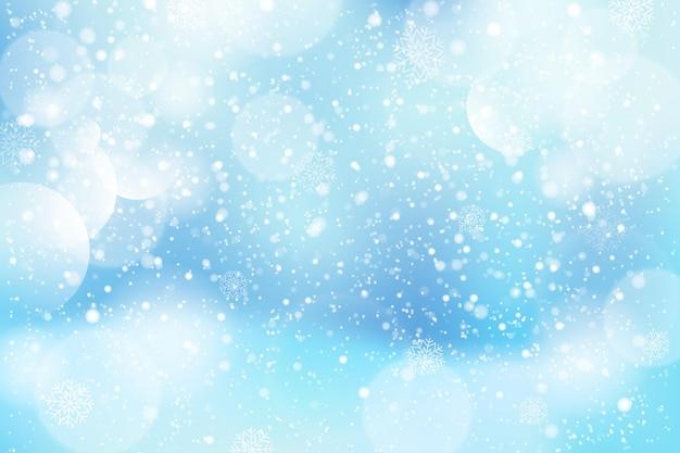 Freddo sfocato sfondo invernale