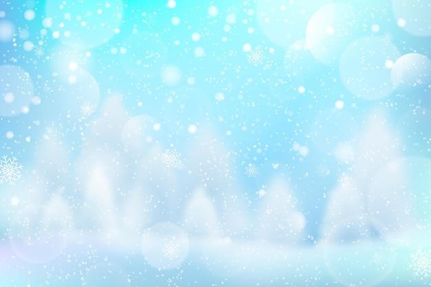 Carta da parati invernale sfocata fredda