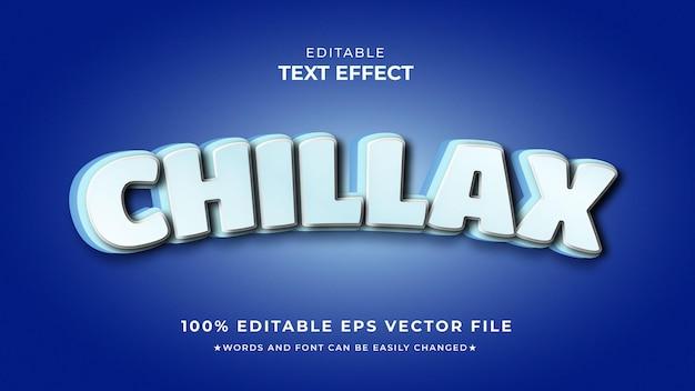 Vettore di stile modificabile effetto testo chillax