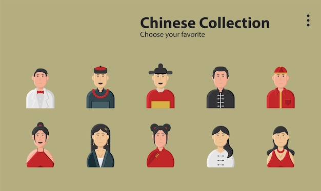 Cinese cina festival asiatico primavera decorazione cultura custome illustrazione sfondo carattere