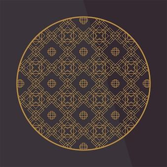 Elementi di decorazione cinese. cornice, bordo o piastrelle con motivi.