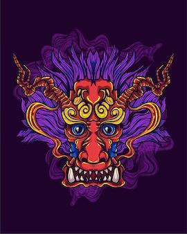 Illustrazione di opere d'arte del drago cinese
