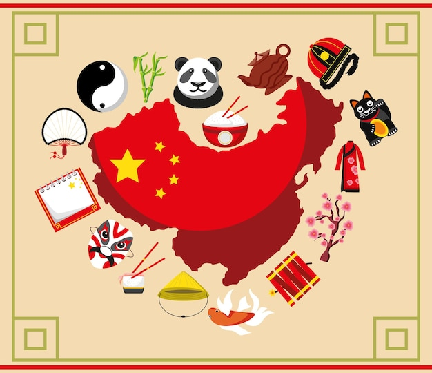 Bandiera nazionale della cultura della bandiera cinese