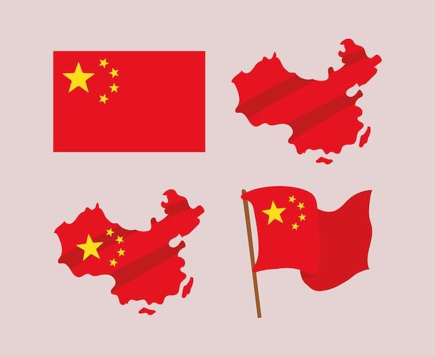 Disegni di bandiere cinesi