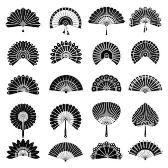 Set di ventagli cinesi