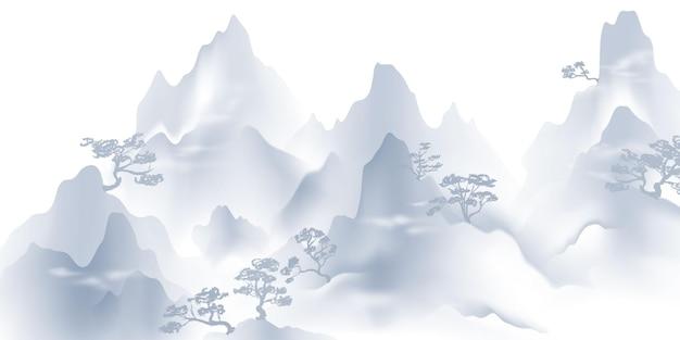 Pittura cinese del paesaggio dell'inchiostro