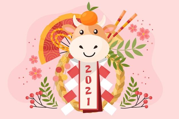 Sfondo del capodanno cinese 2021