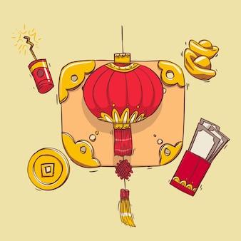 Lanterna di carta cinese