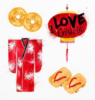 Biscotti di fortuna di simboli cinesi