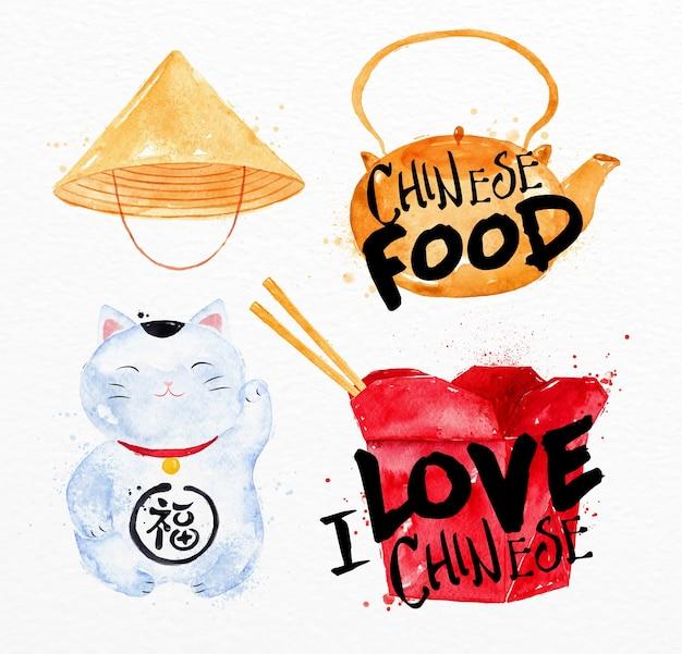 Simboli cinesi gatto fortunato