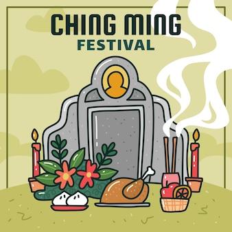 Festival di ching ming o giornata di pulizia delle tombe
