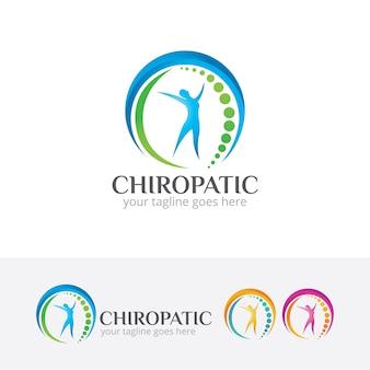 Modello di logo di vettore di centro chiropratico