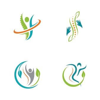 Simbolo di chiropratica illustrazione di disegno dell'icona di vettore template