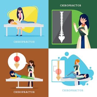 Disegno vettoriale chiropratico