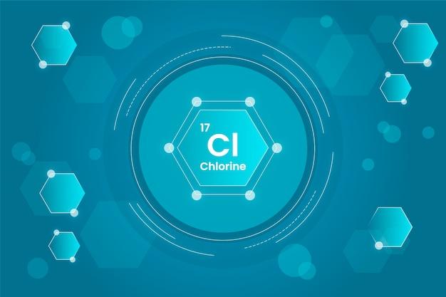 Sfondo di cloro in una forma circolare