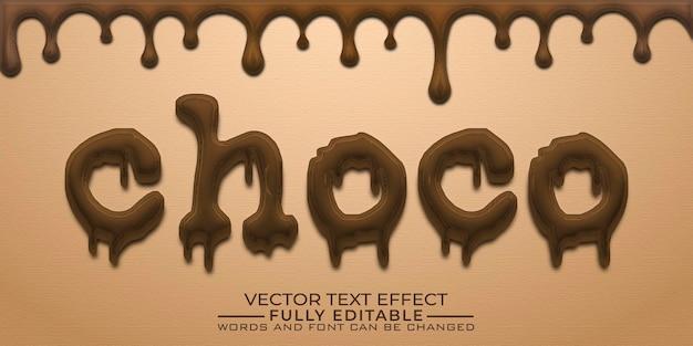 Modello effetto testo modificabile chococo