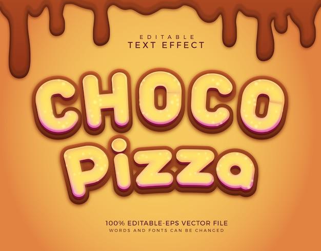 Effetto testo pizza al cioccolato
